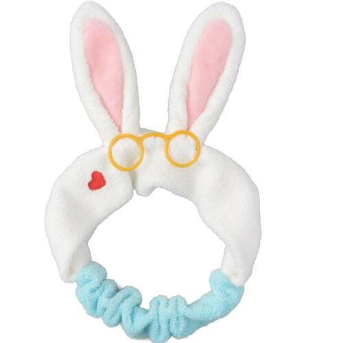 TDR - White Rabbit Stretch Ears Headband