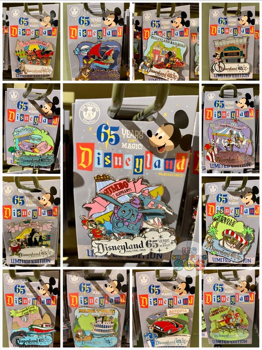 DLR - Disneyland Park 65th Anniversary - LE 2000 Attraction Pin