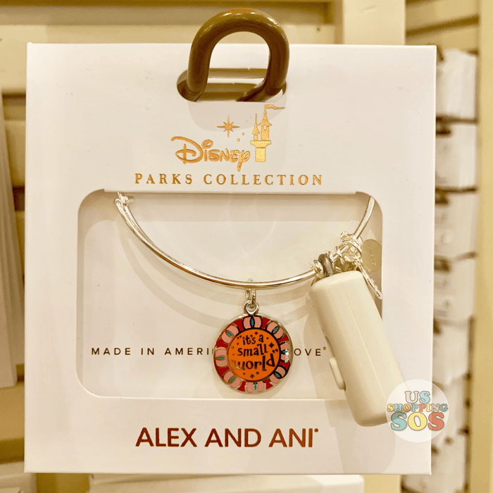 DLR - Alex & Ani Bangle - Double-Side Charm It's a Small World