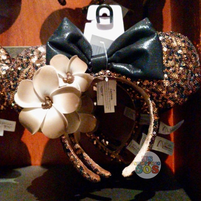Aulani - Minnie Sequin Headband with Plumeria (Belle of the Ball Bronze)