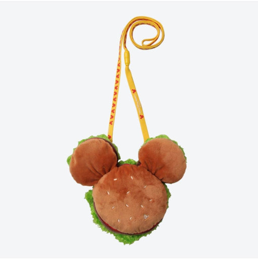 TDR - Crossbody Plush Passholder -  Mickey Hamburger