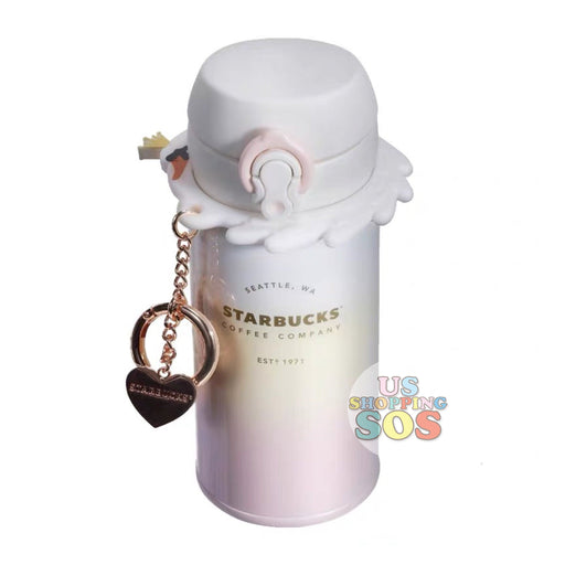 Starbucks China - Valentine 2020 - Love & Peace Thermos Ombré Vacuum Bottle with Heart Charm (350ml)