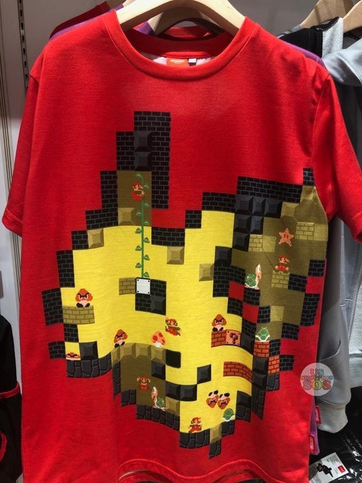 Japan Nintendo - Super Mario x Pokémon 8 Bit Scramble Unisex Tee (Color: Red)