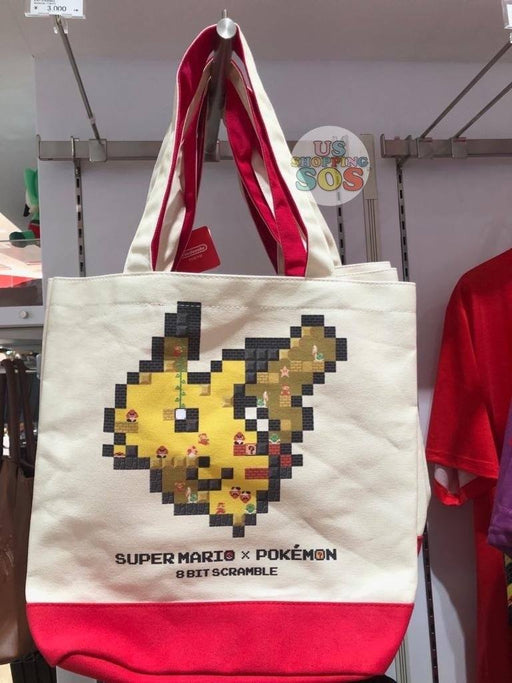 Japan Nintendo - Super Mario x Pokémon 8 Bit Scramble Tote Bag