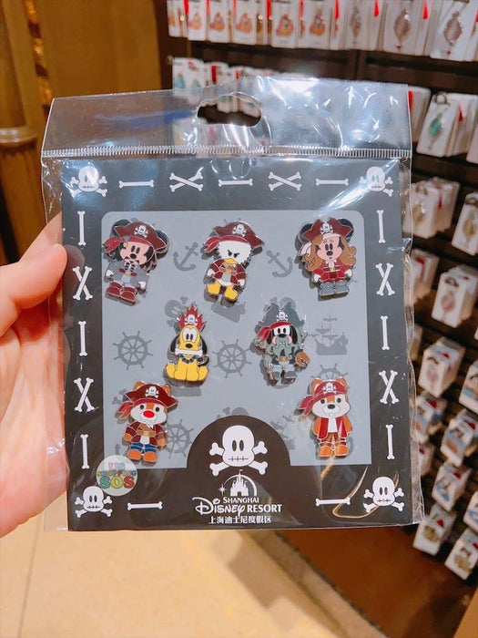 SHDL - Mickey & Friends Pirate Pins Set