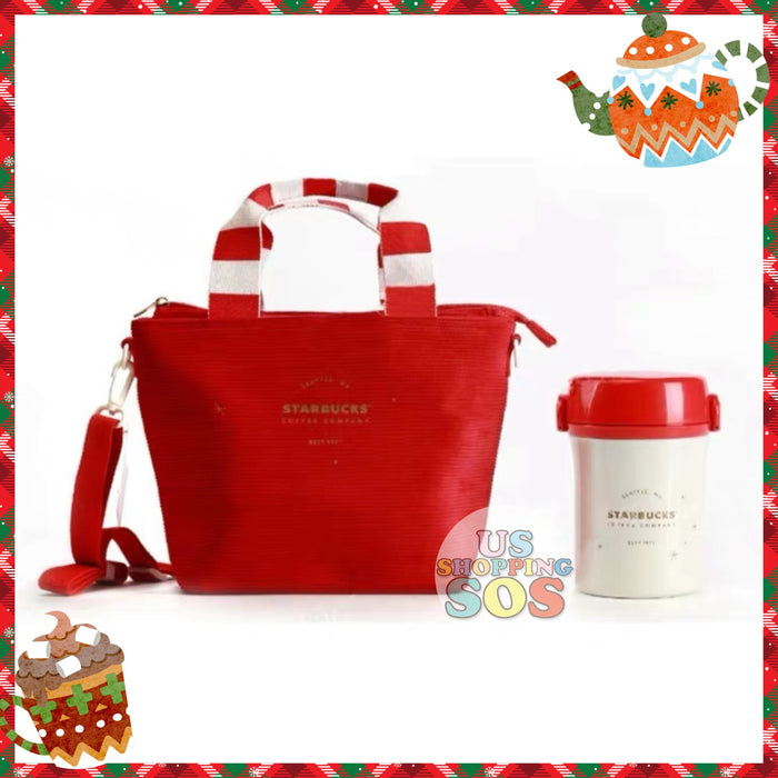 Starbucks China - Christmas Time 2020 (Store 1st Series) - Thermos Christmas Red Insulated Lunch Box Set