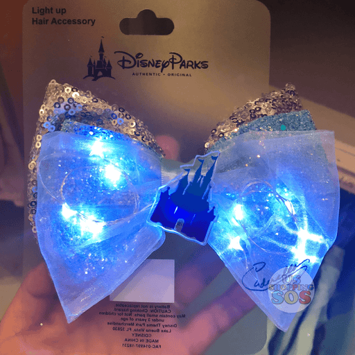 DLR - Light Up Bow Hair Clip - Princess Cinderella