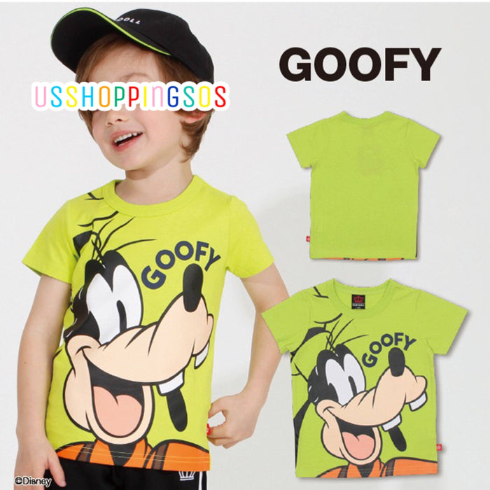 Japan Exclusive - Disney Character Big Face T-shirt (Kids) - Goofy