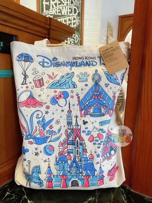 HKDL - Starbucks Been There Series Hong Kong Disneyland 15  - Tote Bag