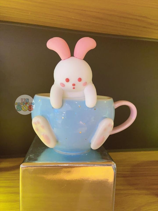 Starbucks China - Moon Rabbit Coffee Time - Embossed Mug 270ml with Bunny Tea Infuser