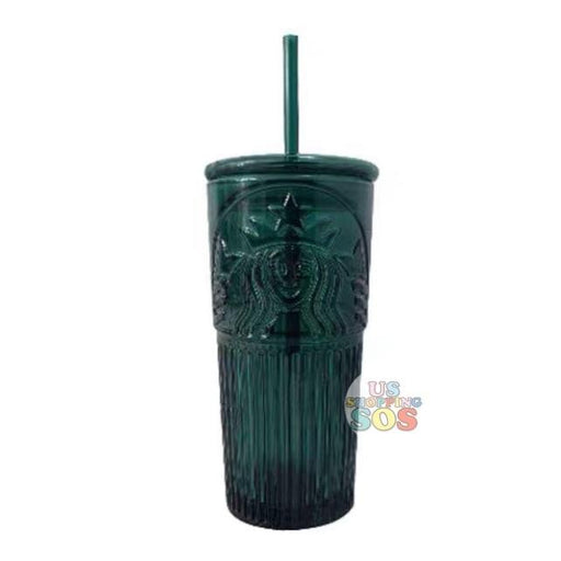 Starbucks China - Anniversary 2020 - Deep Sea Green Siren Goddness Glass Cold Cup 550ml