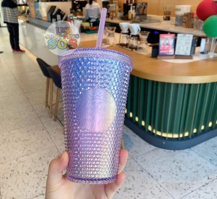 Starbucks China - Christmas Time 2020 Aurora Series - Iridescent Studded Cold Cup 16oz