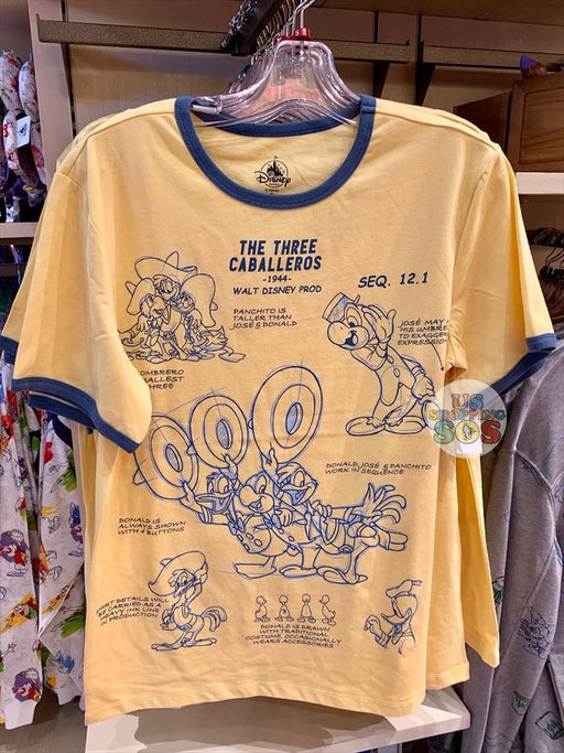 DLR - Ink & Paint - Graphic T-shirt (Adult) - The Three Caballeros 1944