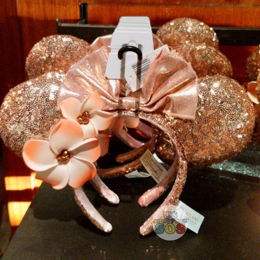 Aulani - Minnie Sequin Headband with Plumeria (Briar Rose Gold)