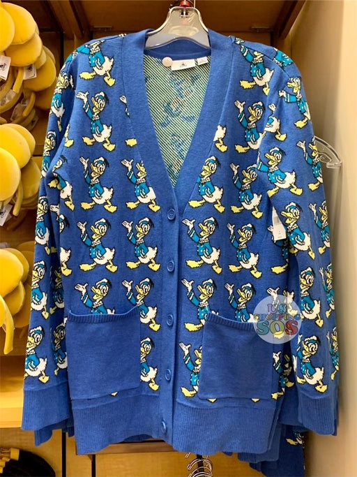 DLR - All-Over-Print Button Up Sweater (Adult) - Donald Duck (Blue)