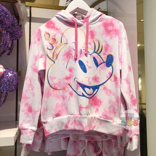 "WDW - Tie-Dye ""Walt Disney World"" Minnie Hoodie Pullover Pink (Adult)"