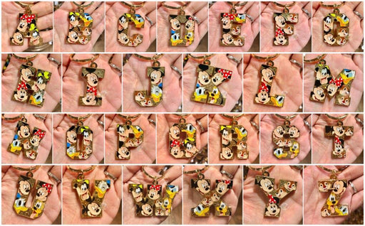 DLR - Mickey & Friends Letter Keychain