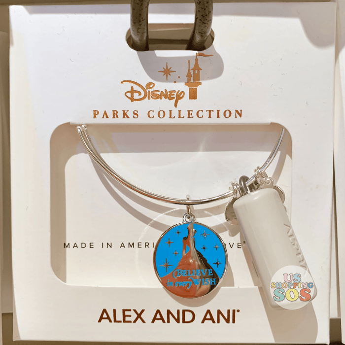 "DLR - Alex & Ani Bangle - Princess Cinderella ""Believe in every Wish"""