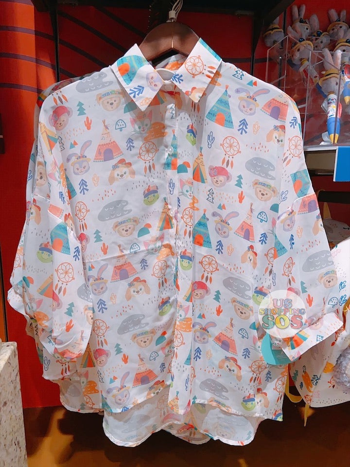 SHDL - Duffy & Friends Summer Camp Collection - All-Over Printed Shirt (For Female)