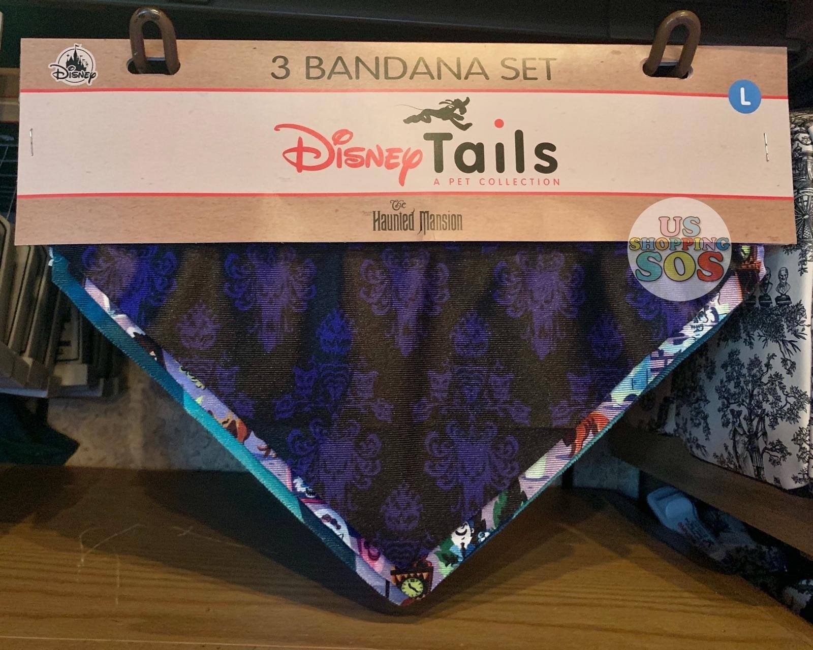 DLR - Disney Tails Dog Bandana Set - Haunted Mansion