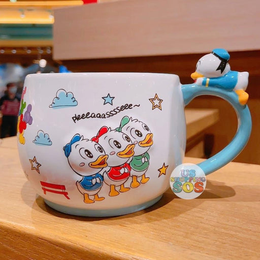 SHDL - Super Cute Mickey & Friends Collection - Donald & Daisy Duck & Huey & Dewey & Louie Mug