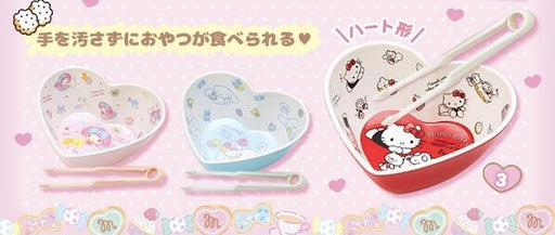 Japan Sanrio - Fun House Time Series - Character Snack Bowl & Tongs Set