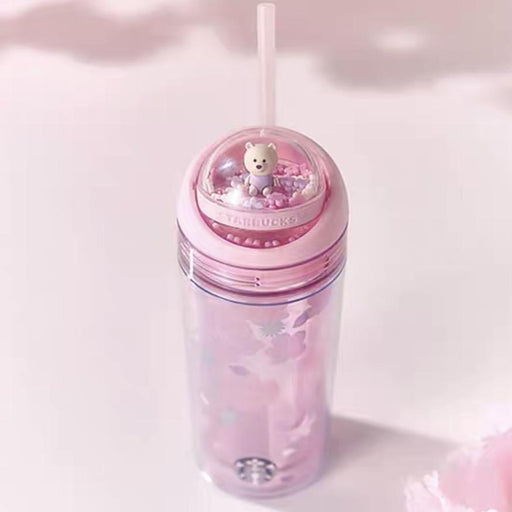 Starbucks China - Sakura 2021 - Bear Spinning Ball Cherry Blossom Double Wall Cold Cup 355ml