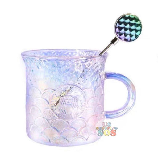 Starbucks China - Anniversary 2020 - Iridescent Fish Scales Glass with Stir 275ml