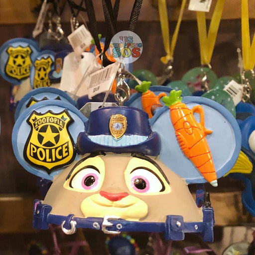 DLR - Ear Hat Hand Printed Ornament - Zootopia Judy