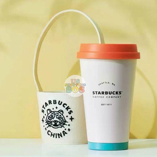 Starbucks China - Cherish Cutie - Panda Stainless Steel Tumbler with Tiger Holder 370ml