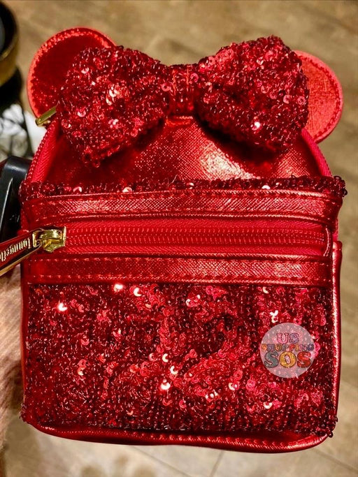 DLR - Lucky Red - Loungefly Minnie Sequin Backpack Wristlet