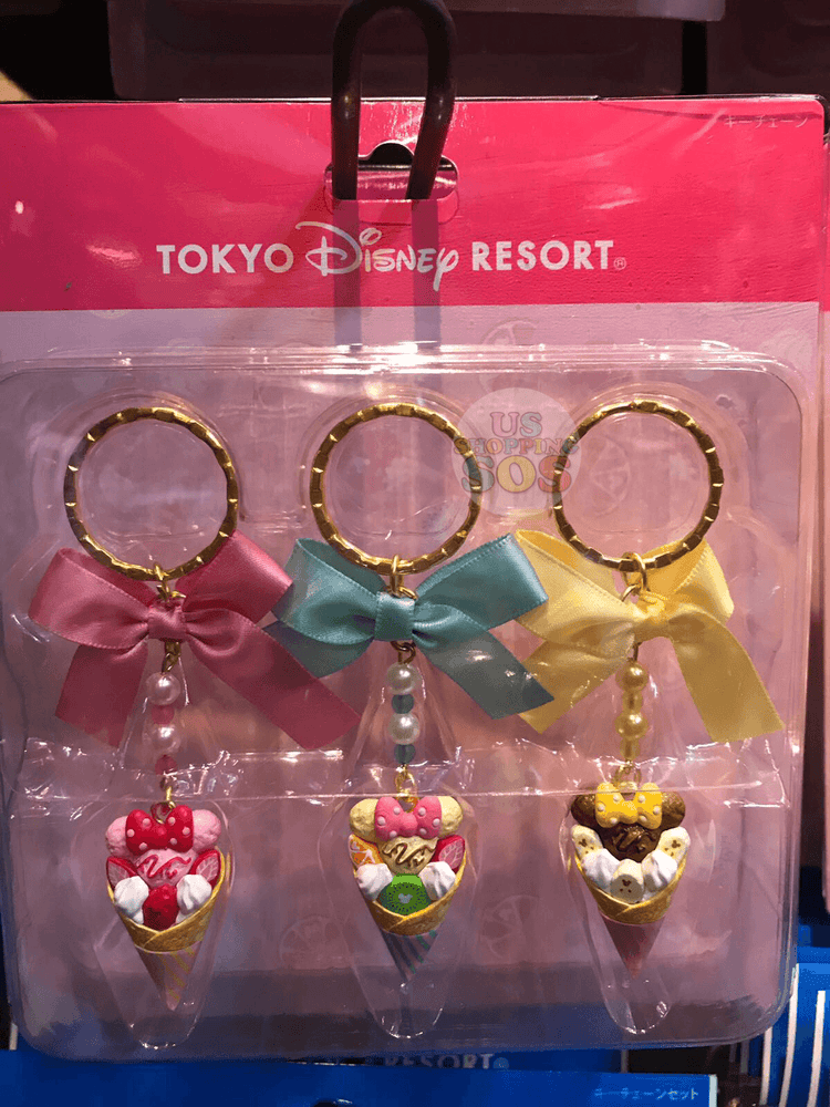 TDR - Keychains Set - Mickey Food x Ice Cream Cones