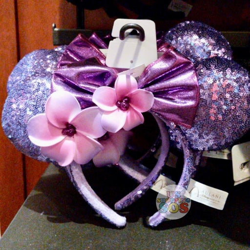 Aulani - Minnie Sequin Headband with Plumeria (Potion Purple)