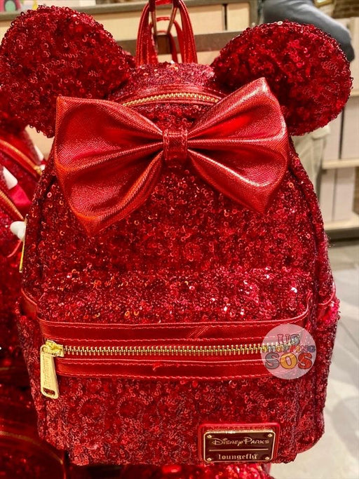 DLR - Lucky Red - Loungefly Minnie Sequin Backpack