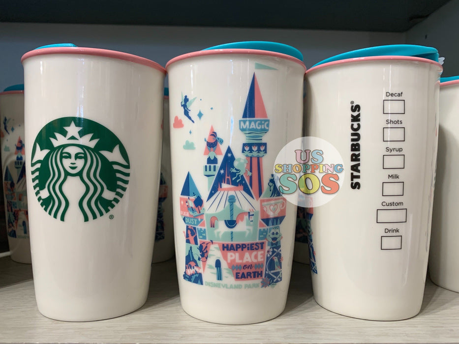 "DLR - Starbucks Double Wall Tumbler - Disneyland Park ""Happiest Place on Earth"""