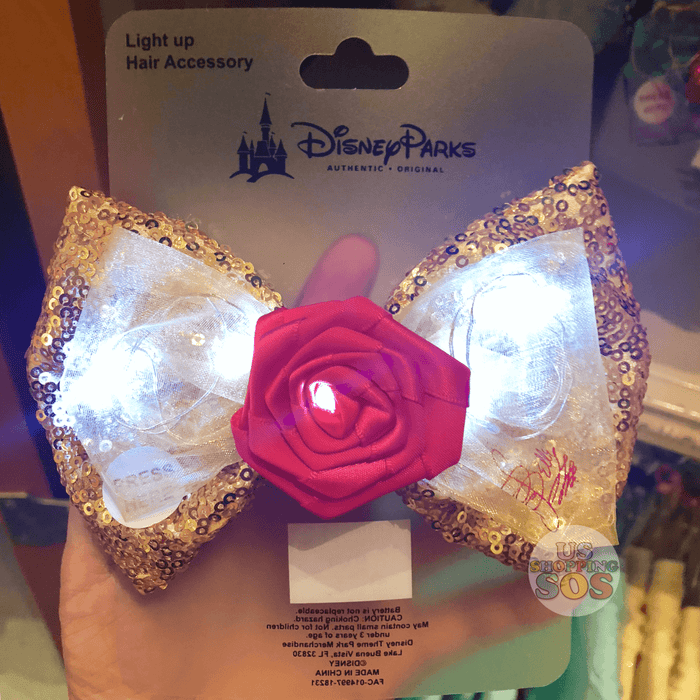 DLR - Light Up Bow Hair Clip - Princess Belle