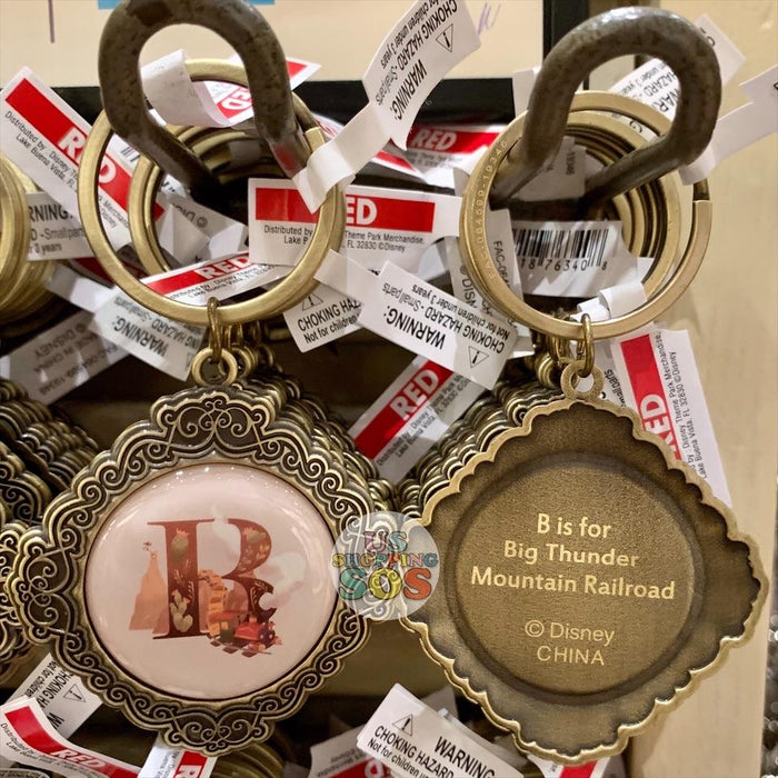 DLR - ABCDisney Letter Keychain - B is for Big Thunder Mountain Railroad