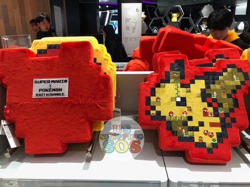 Japan Nintendo - Super Mario x Pokémon 8 Bit Scramble Cushion x Pikachu