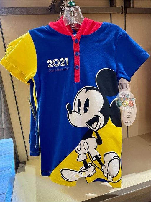 DLR - Disneyland 2021 - Mickey Baby Hooded Romper (Infant & Toddler)