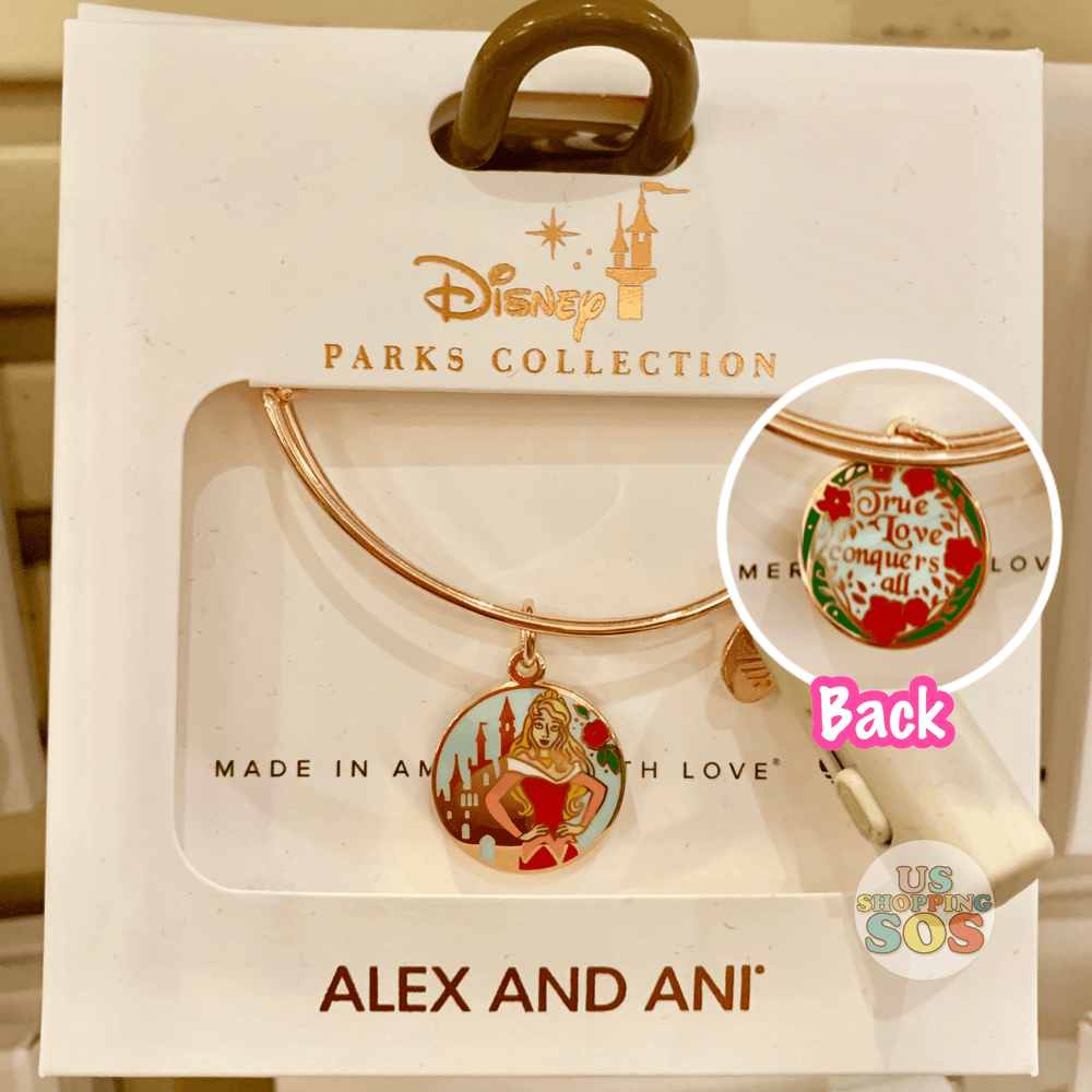 "DLR - Alex & Ani Bangle - Double-Side Charm Sleeping Beauty ""True Love Conquers All"""