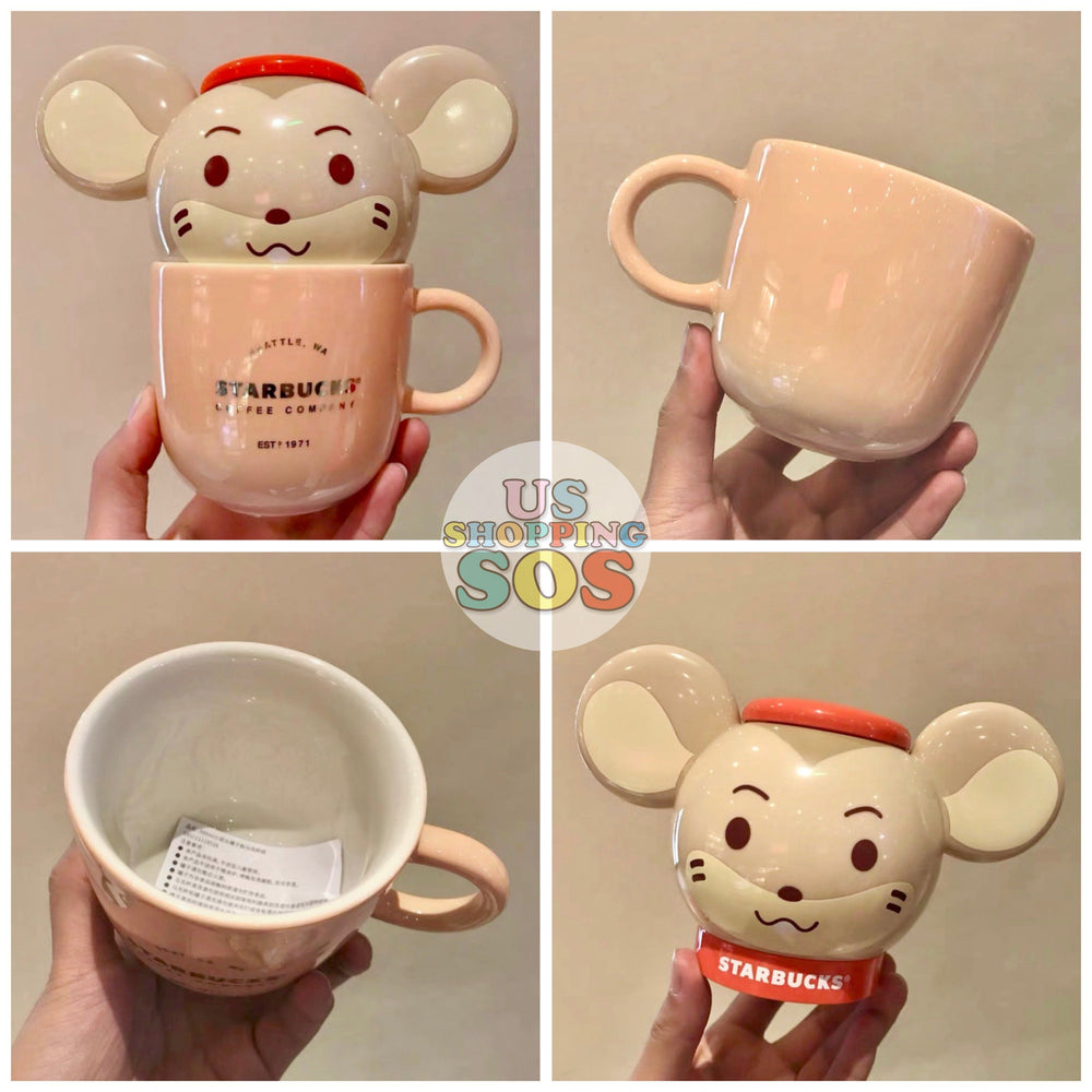 Starbucks China - New Year 2020 Mouse Vacation - 380ml Smart Mouse Mug with Lid