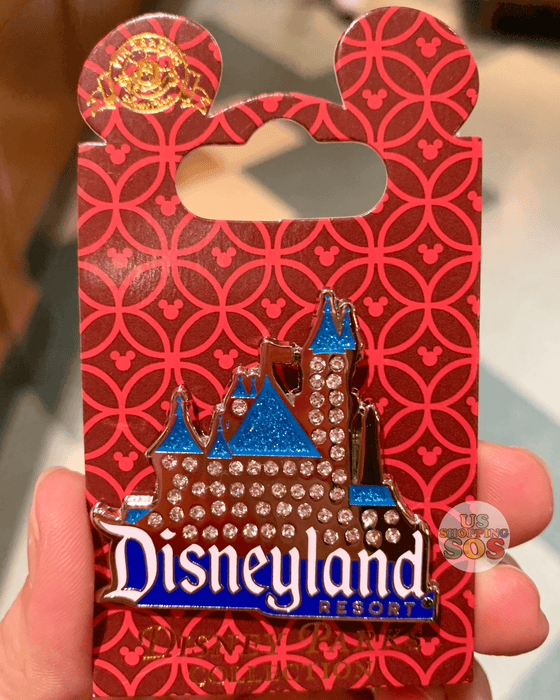 DLR - Attraction Pin - Disneyland Rhinestone Castle
