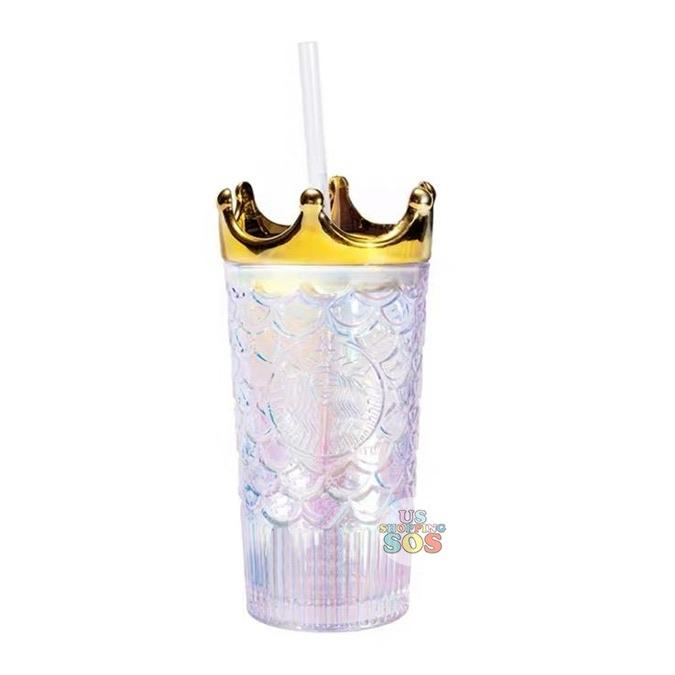 Starbucks China - Anniversary 2020 - Gold Crown Glass Cold Cup 470 ml