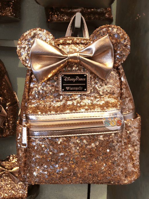 DLR - Loungefly Minnie Rose Gold Sequin Backpack