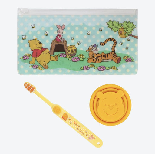 TDR - Toothbrush & Silicone Collapsible Travel Cup Set x Winnie the Pooh & Friends