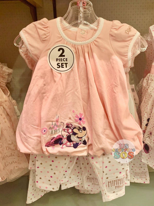 DLR - Minnie Baby Top & Leggings 2-Piece Set (Pink Polka Dot)