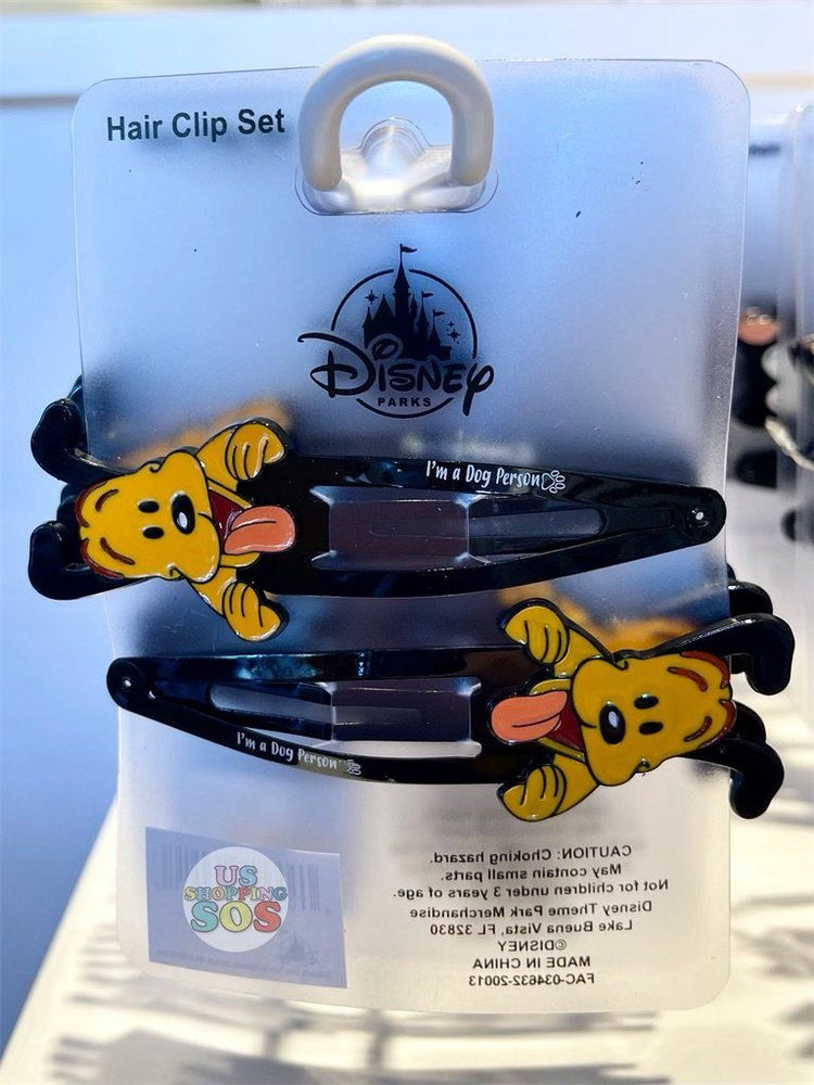 DLR - Disney Reigning Cats & Dogs 🐾 - Pluto Hair Clip Set