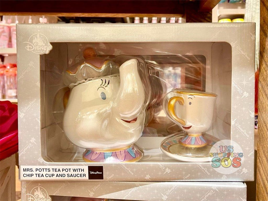 DLR - Disney Home Beauty and the Beast -  Mrs. Potts Tea Pot + Chip Tea Cup and Saucer
