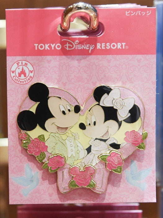 TDR - Pin x Mickey & Minnie Mouse with Rose
