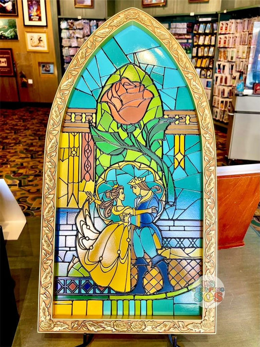 DLR - Disney Art - Beauty and the Beast Stained Glass Decor